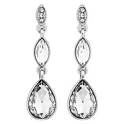 The Collection - Double crystal teardrop earring