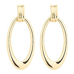 The Collection - Polished open oval gold drop earring