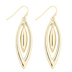 The Collection - Polished gold navette swing drop earring