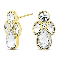 The Collection - Mixed crystal peardrop stud earring