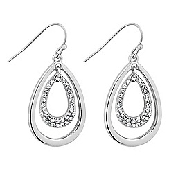 The Collection - Polished and crystal embellished peardrop earring
