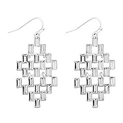 The Collection - Baguette stone set chandelier earring