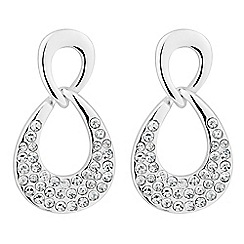 The Collection - Polished and crystal encased link drop earring
