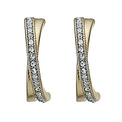 The Collection - Polished and crystal crossover earring