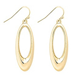 The Collection - Large polished oval drop earring