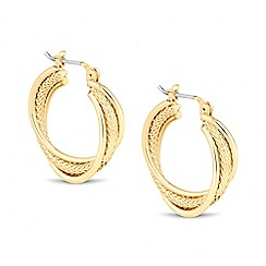 The Collection - Textured gold hoop earring