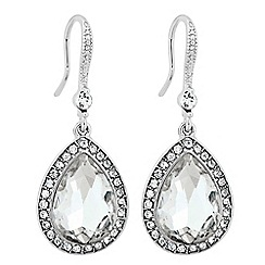 The Collection - Large crystal peardrop earring