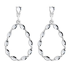 The Collection - Navette crystal peardrop earring