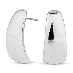 The Collection - Curved polished stud earring