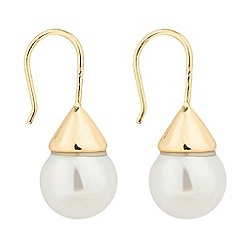The Collection - Gold capped pearl drop earring
