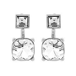 The Collection - Square crystal lobe earring