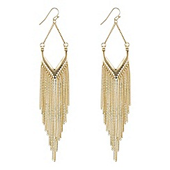 The Collection - Silver chain tassel chandelier earring