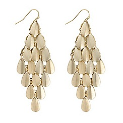 The Collection - Metal teardrop chandelier earring