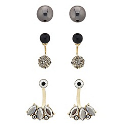 The Collection - Pack of three tonal drop earring set