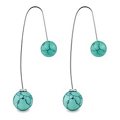 The Collection - Turquoise thread through drop earring