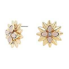 The Collection - Pink flower stud earring