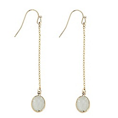 The Collection - Crystal chain drop earring