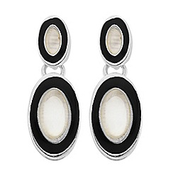 The Collection - Mother of pearl surround drop earring