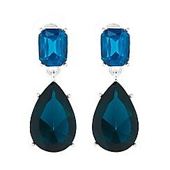The Collection - Blue crystal drop earring