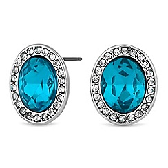 The Collection - Blue crystal earrings