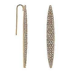 The Collection - Gold crystal navette drop earring