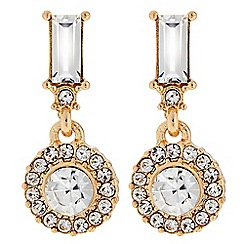 The Collection - Gold mini crystal drop earring