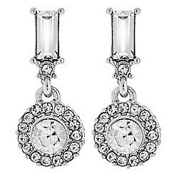 The Collection - Silver mini crystal drop earring