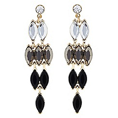 The Collection - Grey crystal chandelier earring
