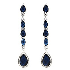 The Collection - Blue crystal peardrop drop earring