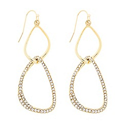 The Collection - Gold pave link drop earring