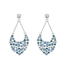 The Collection - Blue crystal chandelier earring