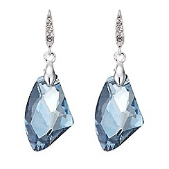 The Collection - Blue crystal bead drop earring