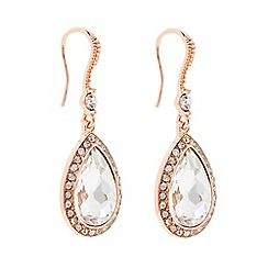 The Collection - Rose gold crystal peardrop earring