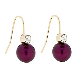 The Collection - Purple pearl crystal drop earring
