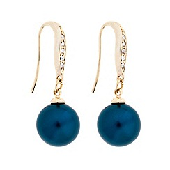 The Collection - Teal pearl drop earring