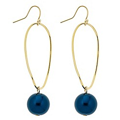 The Collection - Teal pearl twist drop earring