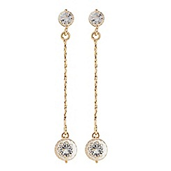 The Collection - Gold chain crystal drop earring