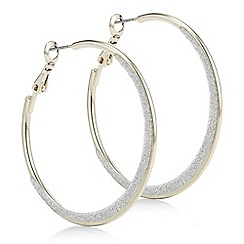 The Collection - Gold glitter hoop earring