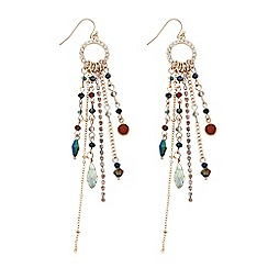 The Collection - Gold beaded tassel drop earring