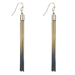 The Collection - Gold ombre tassel drop earring