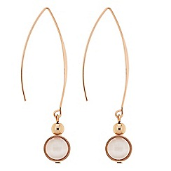 The Collection - Rose gold curved stick drop earring