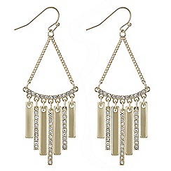 The Collection - Gold pave stick drop earring