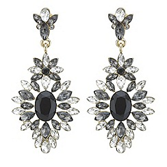 The Collection - Grey tonal crystal chandelier earring