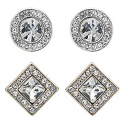 The Collection - Multi shape crystal stud earring