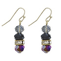 The Collection - Crystal and bead drop earring