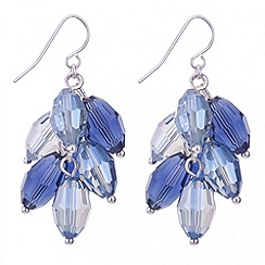 The Collection - Blue bead shaker drop earring