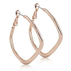 The Collection - Rose gold angular hoop earring