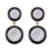 Black mother of pearl disc earring