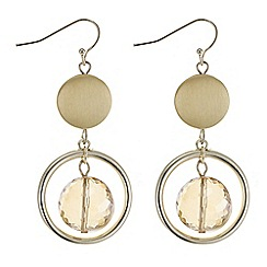 The Collection - Gold crystal hoop droplet earring