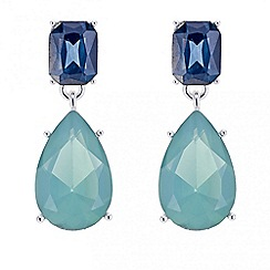 The Collection - Blue crystal multi shape drop earring